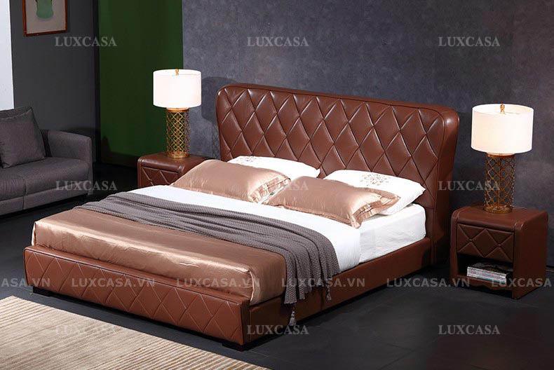Nên chọn giường ngủ bọc da, vải nỉ hay giường gỗ?