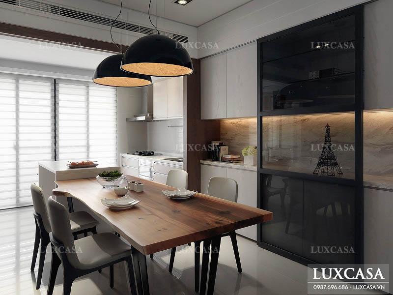 Phòng ăn căn hộ 2 phòng ngủ phong cách đơn giản