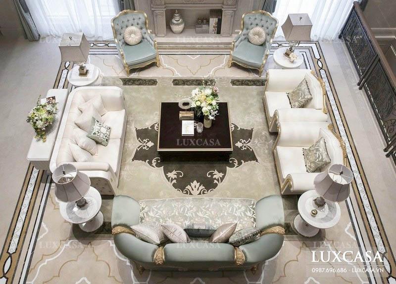 99+ mẫu bàn ghế phòng khách biệt thự đẹp sang trọng