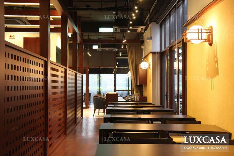 Thương hiệu thi công nội thất nhà hàng uy tín Luxcasa
