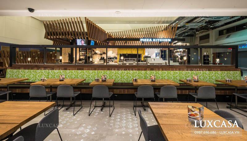 Cách thiết kế nội thất nhà hàng quán ăn nhanh hút khách