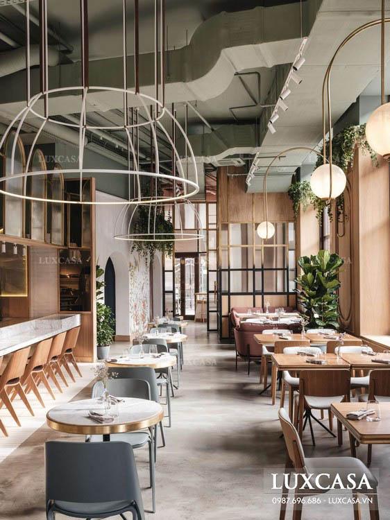 Phong cách thiết kế nhà hàng phụ thuộc vào thực đơn, hình thức phục vụ