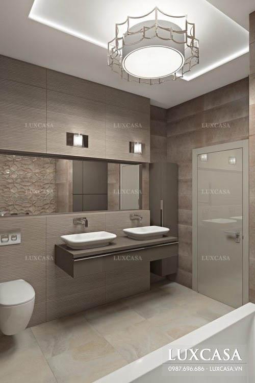 Bố trí phòng tắm đứng giúp tiết kiệm diện tích