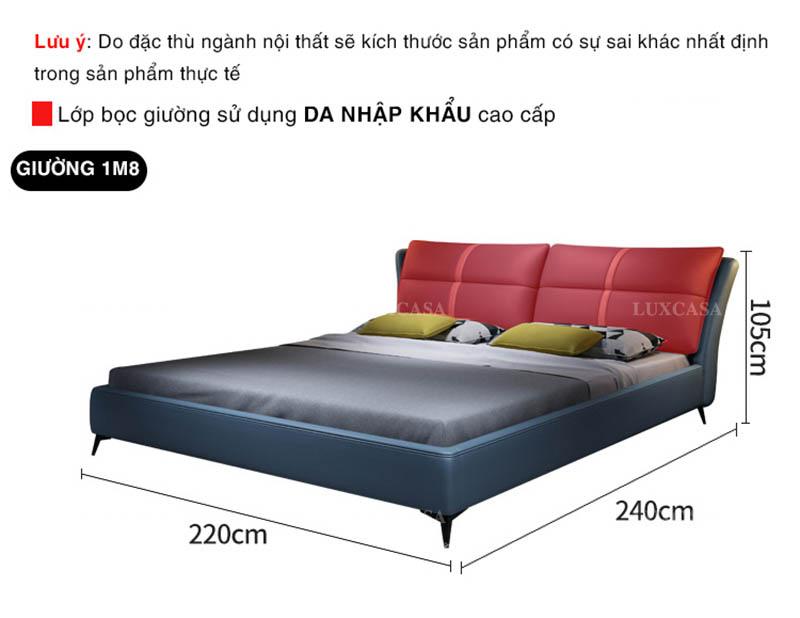 Điều chỉnh kích thước giường đôi hiện đại