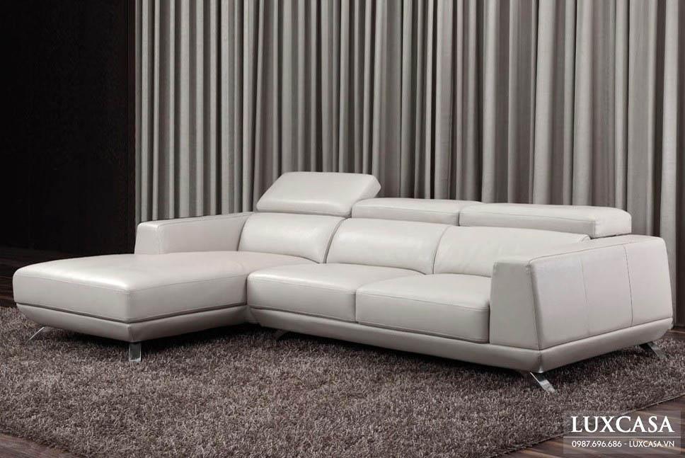 Ghế sofa da màu trắng tươi trẻ