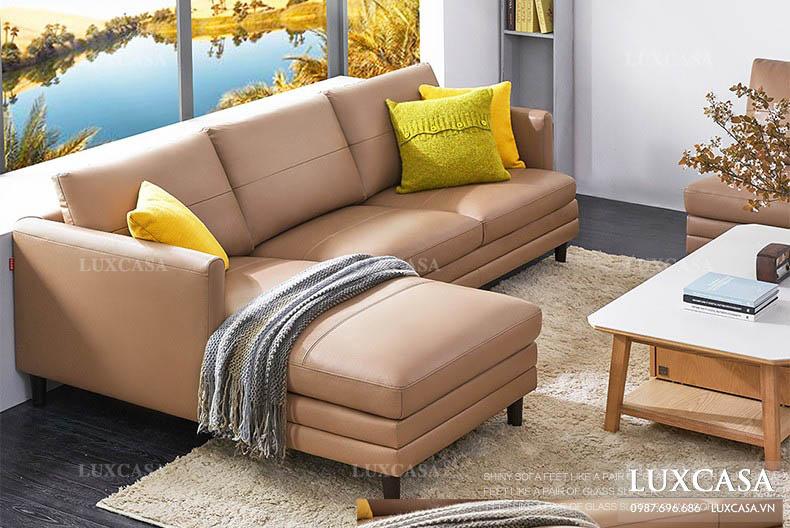 Ghế sofa phong cách đơn giản mộc mạc