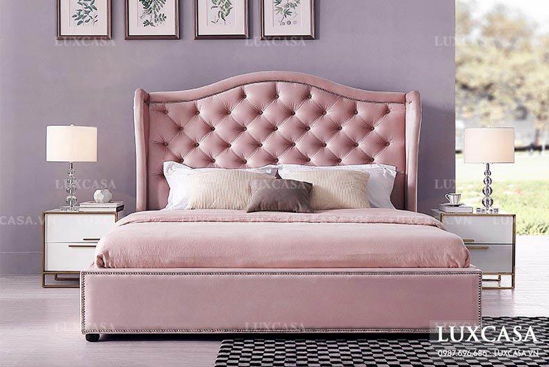 Giường bọc nỉ siêu đẹp luxcasa