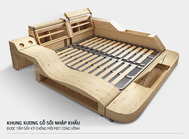 Cấu tạo khung giường massage Luxcasa