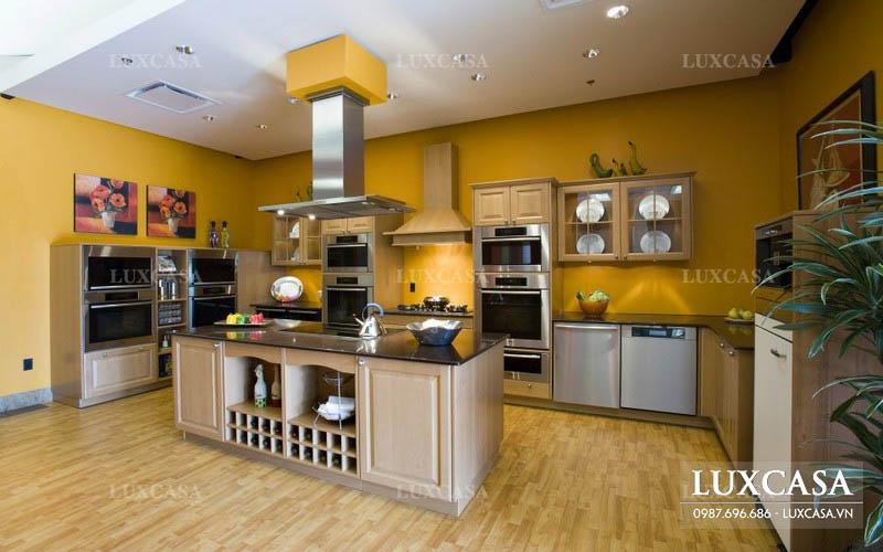 Mẫu thiết kế phòng bếp rộng hiện đại