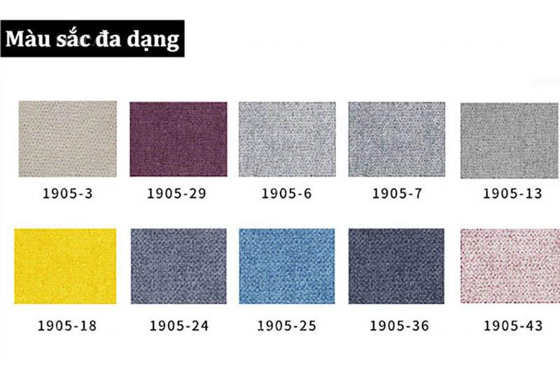 Màu vải sản xuất sofa giường gấp
