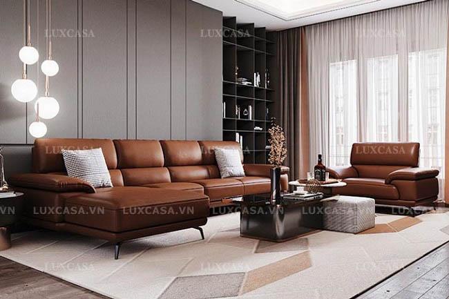 Các mẫu sofa da, sô pha bọc vải, góc giảm giá lớn ở Luxcasa