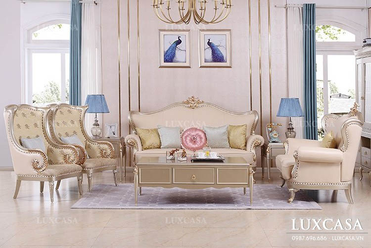 Showroom bán bàn ghế sofa da, sopha nỉ LuxCasa uy tín