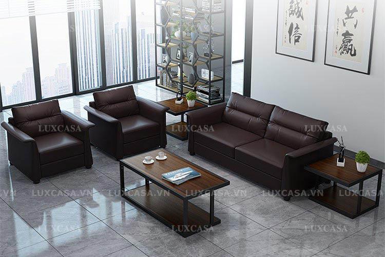 Sofa văn phòng bọc da chất liệu nhập khẩu