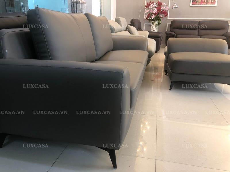 sofa văng da phong cách hiện đại