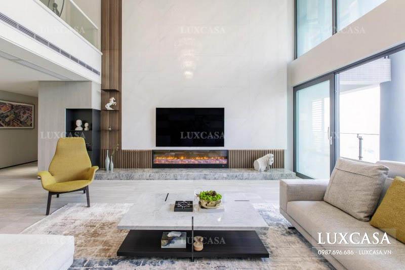 Thiết kế nội thất căn hộ duplex hiện đại
