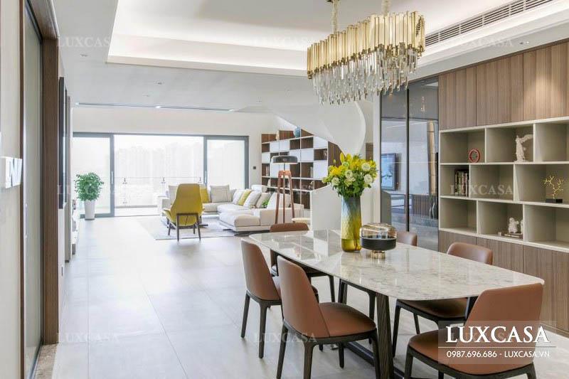 Thiết kế nội thất căn hộ duplex rộng