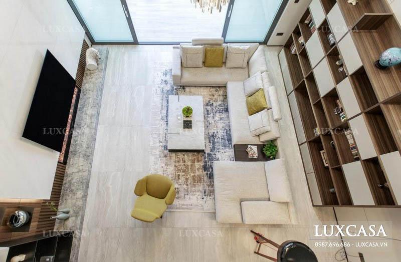 Thiết kế nội thất căn hộ duplex hiện đại sang trọng