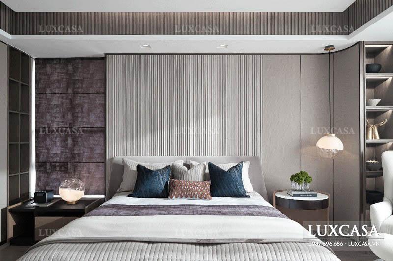 thiết kế sản xuất nội thất phòng ngủ căn hộ penthouse