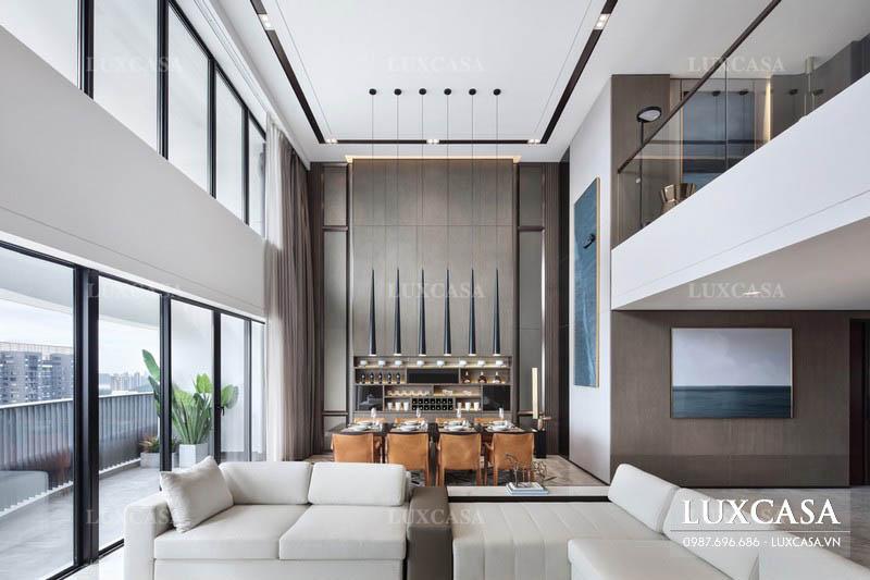 Xu hướng thiết kế căn hộ nối liền không gian