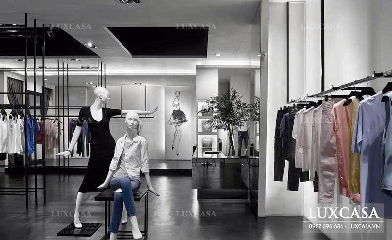 Thiết kế shop cửa hàng quần áo nữ hiện đại