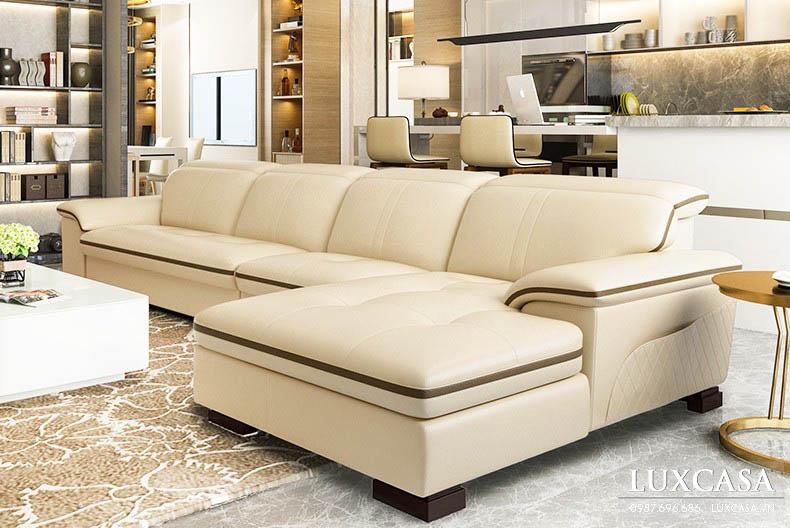 Thiết kế ghế sofa da mềm mại