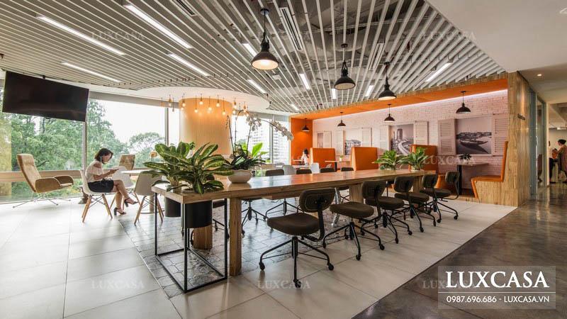 Thiết kế phòng làm việc công ty phong cách co-working