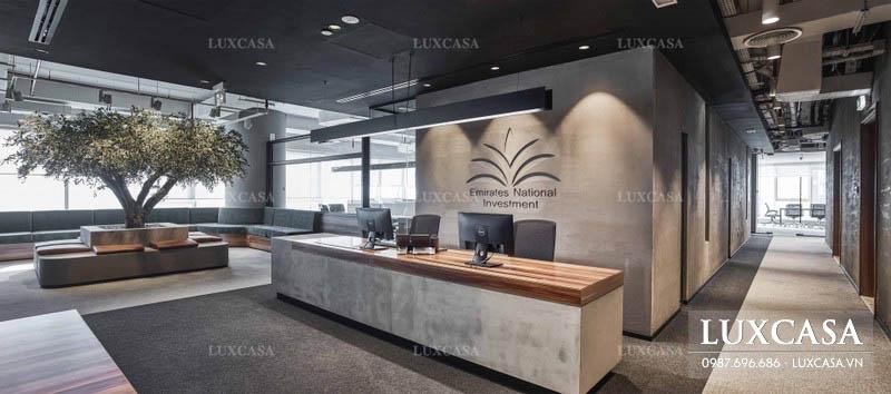 Thiết kế văn phòng quầy lễ tân ấn tượng nhất