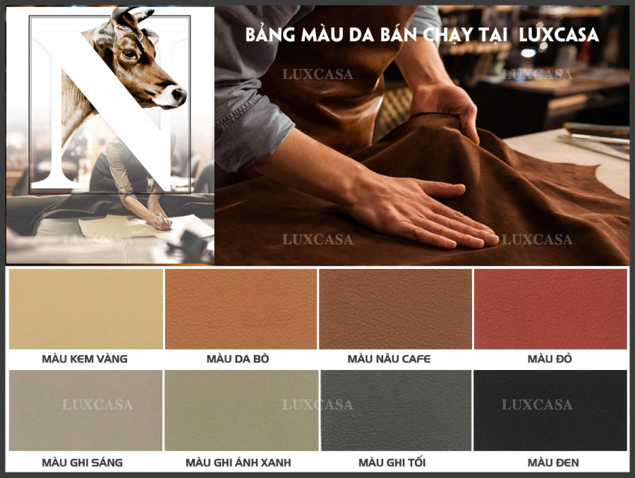 Màu da sản xuất sofa cao cấp